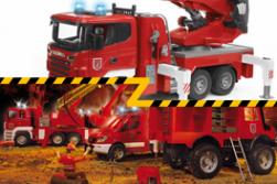 Tűzoltók - kukásautók - sószórók